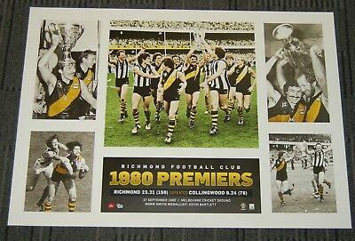 Richmond Tigers 1980 Afl Premiers Official Limited Afl Print Malthouse Sheedy
