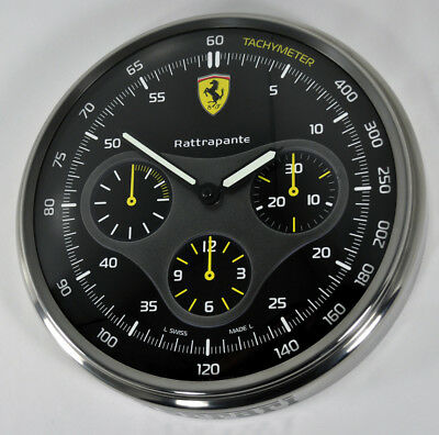 Panerai Ferrari Scuderia Rattrapante Dealers 304Mm Steel Wall Clock Display