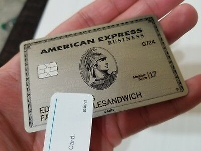 Rare genuine american express centurion card platinum titanium rare genuine american express centurion card platinum titanium business card reheart Choice Image