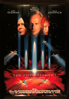 """The Fifth Element (1997) Original Folded Movie Poster 2-Sided 27"""" X 40"""""""