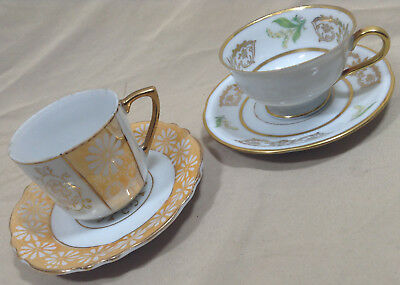 Porcelain Tea Cups Bavaria Germany & Japan Cup And Saucer