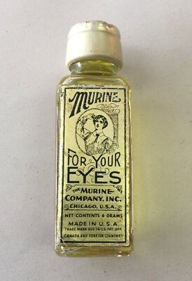 Antique MURINE For Your Eyes EYE REMEDY Bottle Unopened