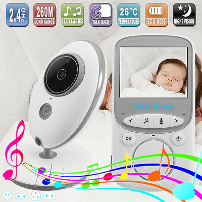 2.4GHz Wireless Baby Monitor Camera Digital LCD Color Audio Video Night Vision