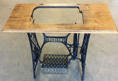 ANTIQUE Vintage 1915 SINGER Treadle SEWING Machine FRAME