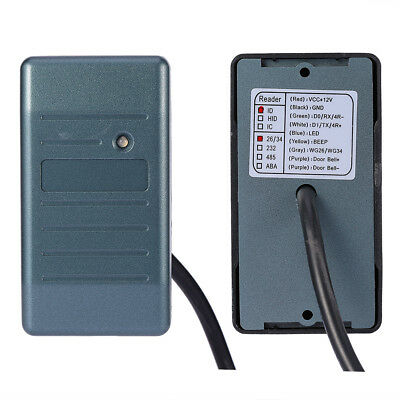 Waterproof Security RFID EM ID Card Reader For Wiegand 26/34 Interface 125KHz CC