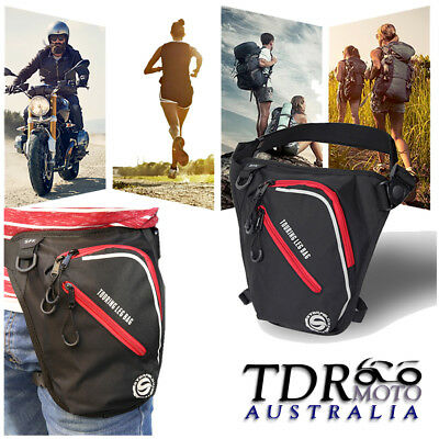 Men Waterproof Oxford Waist Bag Drop Leg Travel Motorcycle Tactical Backpack
