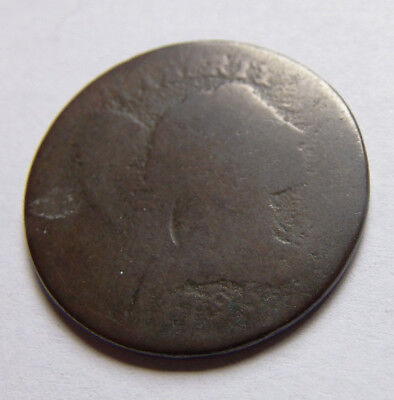 Rare 1795 Flowing Hair Large Cent. Tough Early Copper !!!