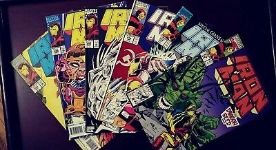 the INVINCIBLE IRON MAN 6 BOOK LOT ● VG to FINE ● #274-#276 #294 #296 #298