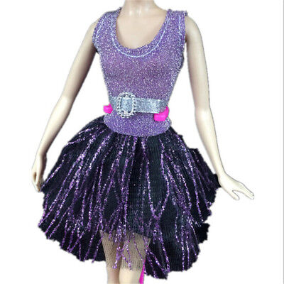 Handmade Dress Wedding Party Mini Gown Fashion Clothes For Dolls AU.