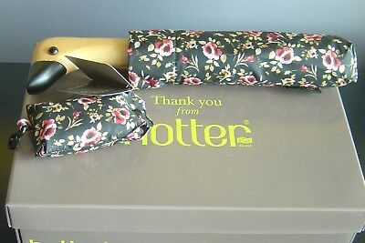LADIES smart HOTTER DUCK HANDLED UMBRELLA plus BAG NEW, BOXED with TAGS RRP£25