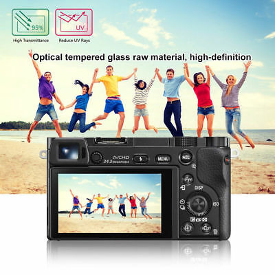 LCD Screen Protector Tempered Glass Film Cover For Sony Alpha A6000 RX100 A7 II