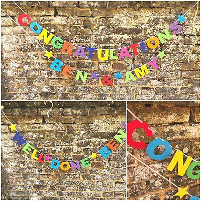 Personalised Congratulations Banner Wedding engagement new home Graduation exams