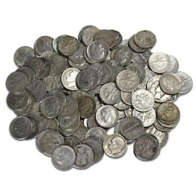 $5 Face Value Roosevelt Dimes- 50 pcs-90% Silver Lot 2T