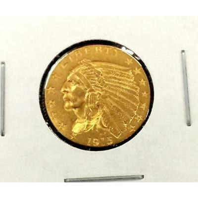 1915 $ 2.5 Gold Indian Lot 471