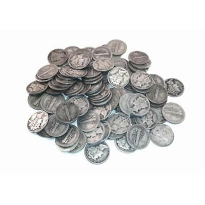 50 pcs. Mercury Dimes -90% Silver Mix Lot 228