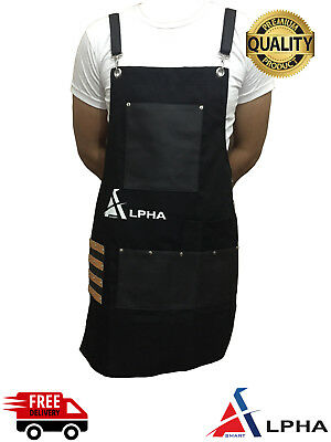 Salon Hairdressing Hair Cutting Apron Front-Back Cape for Barber Hairstylist BLK