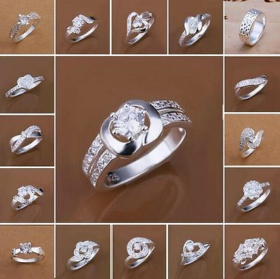 Wholesale New Men Women Fashion Jewelry Silver Beautiful gift 925Silver Ring