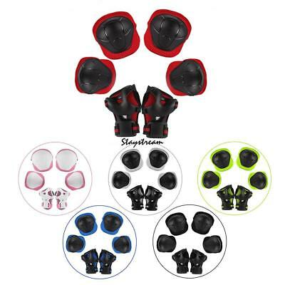 6Pcs Kids Roller Skating Helmet​ Knee Elbow Wrist Pad Protective Gear Sets new