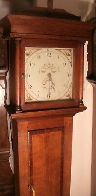 "Antique Oak ""  Hatfield  Bosworth  ""   Longcase /grandfather Clock"