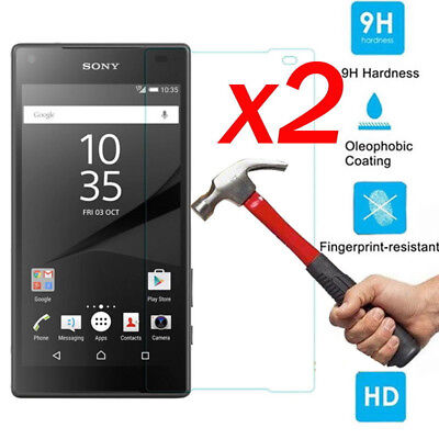 2PCS Tempered Glass Screen Film Protector For Sony Xperia XZ2 XA1 Compact XZS L1
