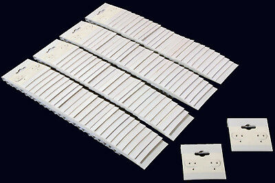 100 Plain White Earring Hanging Cards
