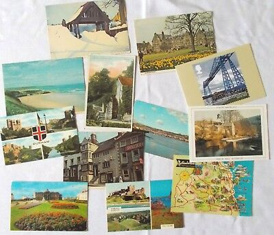 Collection of Vintage Postcards UK North East