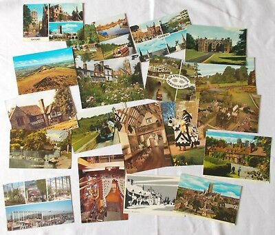 Collection of Vintage Postcards - Midlands (1970s - 1990s)