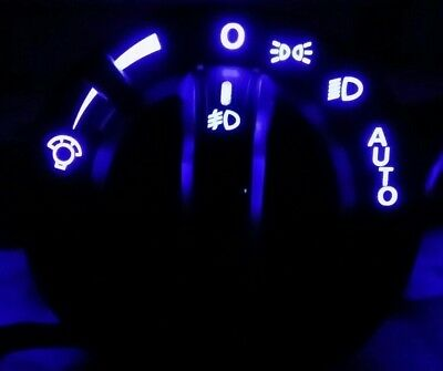 VY VZ Headlight switches fitted with blue leds with fog light function.