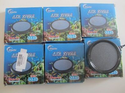 lot de 6 Diffuseurs de bulles  pour aquarium Air Stone AS-03 130x19x6mm
