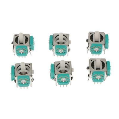 6x 3D Analog Joystick Stick Switch for Nintendo Game cube Controller Repair Part