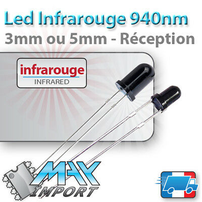 403# 10 à 250pcs LED 5mm infrarouge IR 940nm