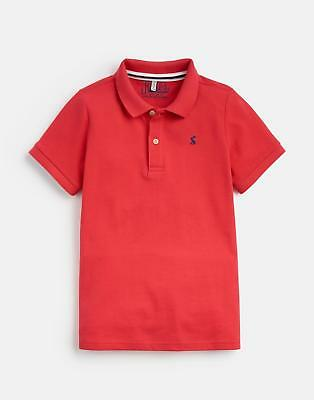 Joules 124931 Boys Pique Polo Shirt in RED