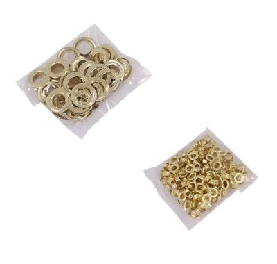 12mm x 200pc or 20mm x 20pc Brass Eyelets Rings For Eyelet Pliers Craft Leather