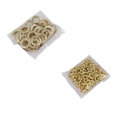8mm x 200pc or 20mm x 20pc Brass Eyelets Rings For Eyelet Pliers Craft Leather