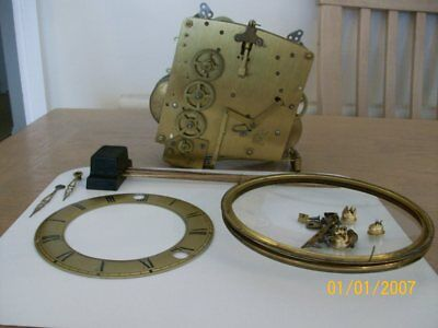 Vintage  Clock  Parts/ Spares Movement 4 Hammers Hands Glass Front All 1 Clock