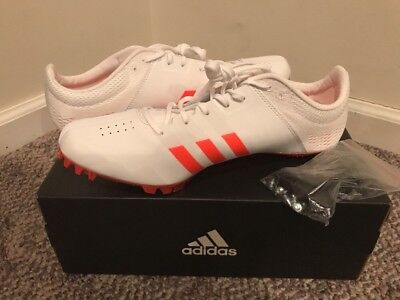 size 40 88bf0 08a5b Adidas Adizero Finesse Track Field White Spikes Shoes Mens Bb4097 10.5