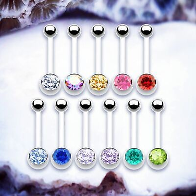 PREGNANCY Long Belly Bar Gem Navel Piercing Maternity Bioflex Belly Button Bars