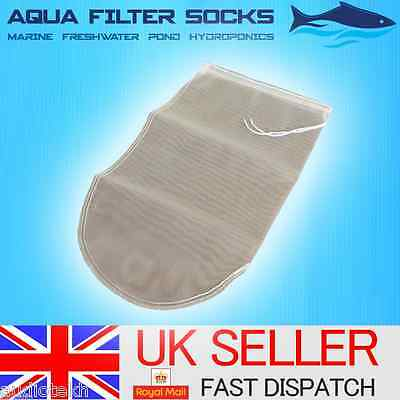 "400 Micron Nylon Mesh 30"" Long Pond Filter Net Bag Sock Koi Carp Uv Media Vacuum"