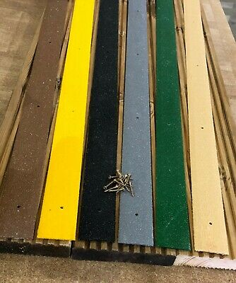 Anti Slip GRP Decking Strips. 75 x 1200mm . 6 colours.. Free screws and shipping