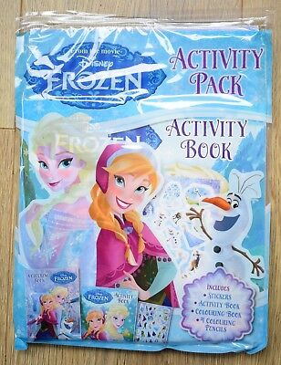 Disney Frozen Fun Activity Pack Books Puzzle Games Colouring Stickers Girls NEW