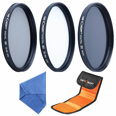 K&F Concept 58mm UV CPL ND4 Filtro Polarizzatore Neutral Density kit + Pulizia