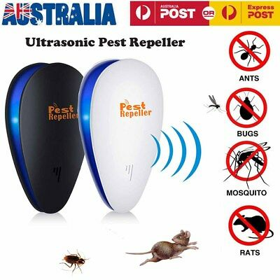 Electronic Ultrasonic Anti Pest Cockroach Bug Mosquito Mouse Killer Repeller GI