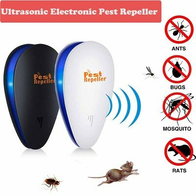 Electronic Ultrasonic Anti Pest Cockroach Bug Mosquito Mouse Killer Repeller LE