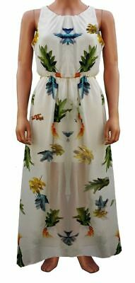 New Womens Summer Holiday Maxi Dress Floral Bird Print Ladies Long Dress