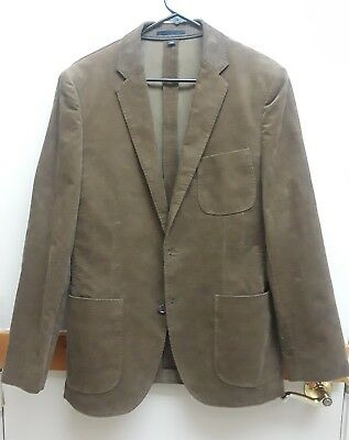 J CREW Men CORDUROY Sport Coat BROWN Cotton Jacket Blazer Size 40R