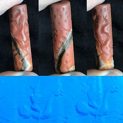 Old Ancient Holy Land Agate carnelian Cylinder Seal