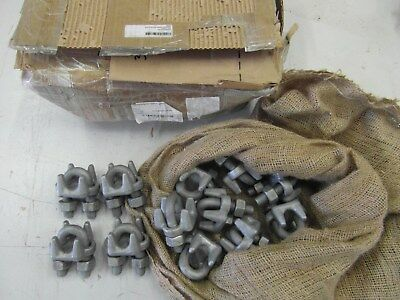 "Lot of 25 Chicago 3/4"" Forged Wire Rope Clips - *NEW IN BOX*"
