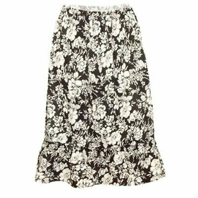 1e078c28c4b NEW WOMENS BURGUNDY Floral A Line Plus Size Skirt Summer Casual ...