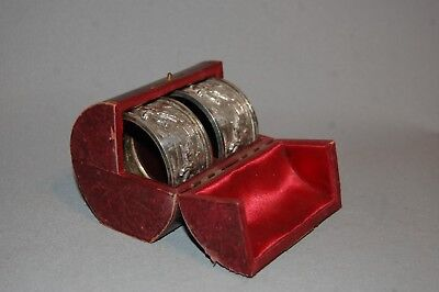 Antique Pair of Fantastic Quality Silver Napkin Rings