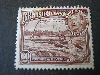 BRITISH GUIANA  1938-1952  60c RED-BROWN  SG 315  VERY FINE USED